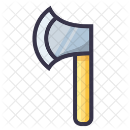 Axe Colored Outline Icon