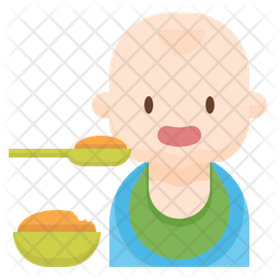 Baby eating Icon
