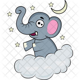 Baby Elephant Dreaming Icon