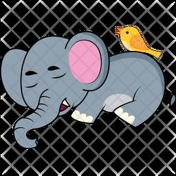 Baby Elephant Sleeping Icon