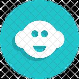 Baby Head Flat Icon
