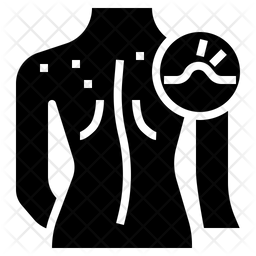 Back Acne Glyph Icon