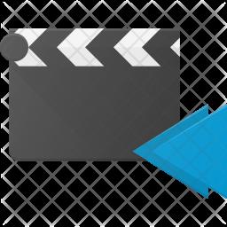 Backward play Flat Icon