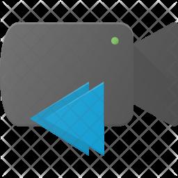 Backward video Flat Icon