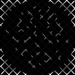 Bacteria Glyph Icon