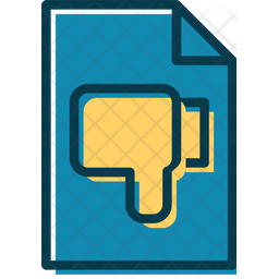 Bad Feedback File Colored Outline Icon