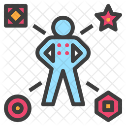 Badge Colored Outline Icon