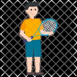 Badminton Player Icon