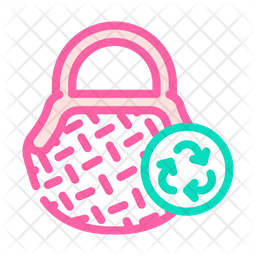 Bag Recycle Colored Outline Icon