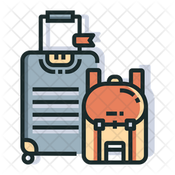 Baggages Colored Outline Icon