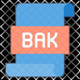 Bak file Flat Icon