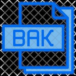 Bak File Colored Outline Icon