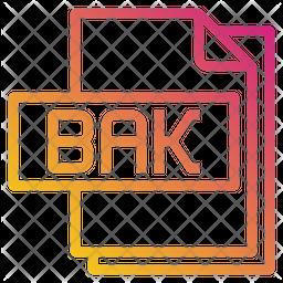 Bak File Gradient Icon