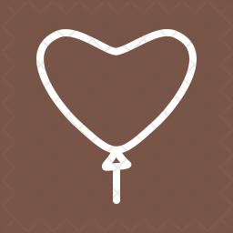 Balloon Line Icon