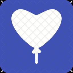 Balloon Glyph Icon