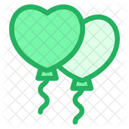 Balloon Colored Outline Icon