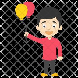 Balloon Boy Cartoon Icon