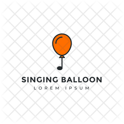 Balloon Logo Colored Outline Icon