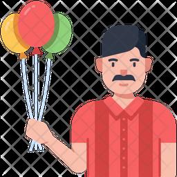Balloon Seller Icon