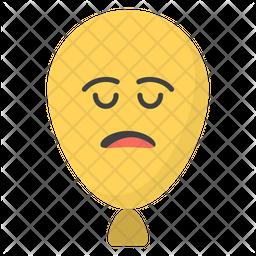 Balloon Smiley Face Emoji Icon