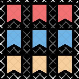 Ballot flags Icon