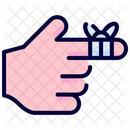 Bandaged finger Icon