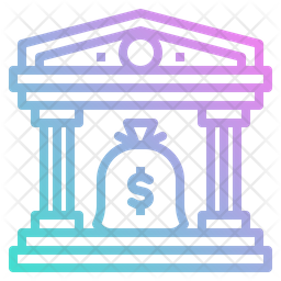 Bank Gradient Icon