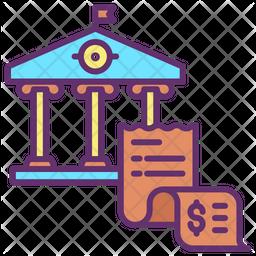 Bank Bills Icon