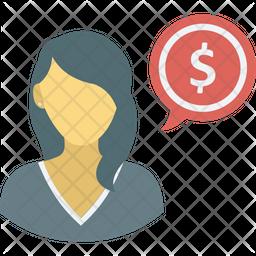 Banker Flat Icon