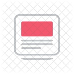 Banner Colored Outline Icon