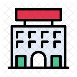 Banner Building Icon