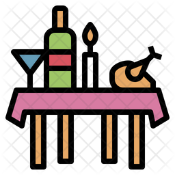 Banquet Colored Outline Icon