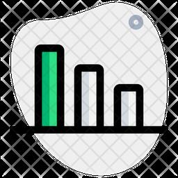 Bar Chart Down Icon