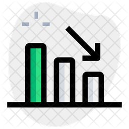 Bar Chart Down Icon