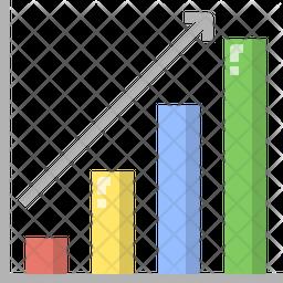 Bar chart up Icon