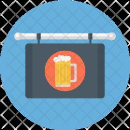Bar, Sign, Beer, Glass, Child, Restaurant Icon
