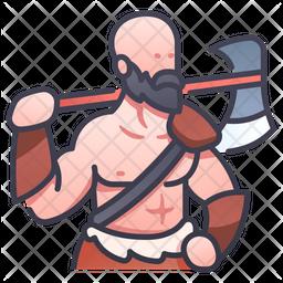 Barbarian Man Icon