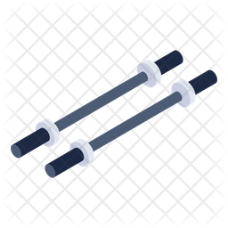 Barbell Rods Icon