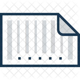 Barcode Colored Outline Icon