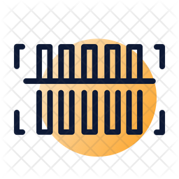 Barcode scanning Colored Outline Icon