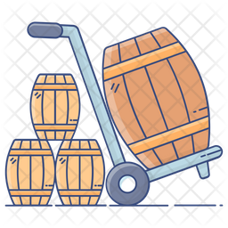 Barrel Cart Icon