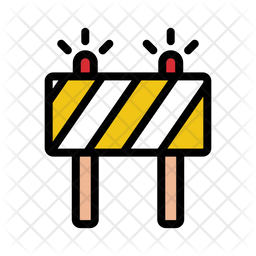 Barrier With Traffic Light Icon