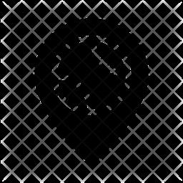 Baseball Location Glyph Icon