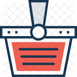Basket Colored Outline Icon