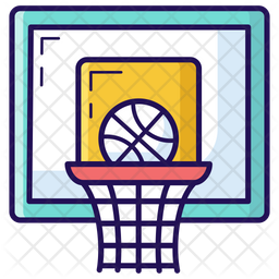 Basketball Colored Outline Icon