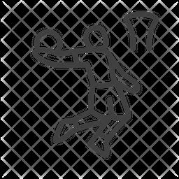 Basketball Line Icon