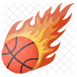 Basketball Flaming Icon
