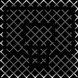 Basketball Hoop Line Icon