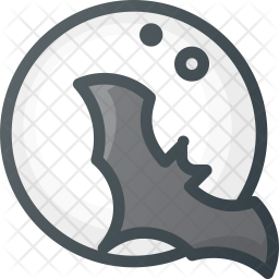 Bat Colored Outline Icon