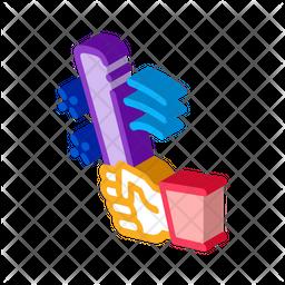 Bat Bullying Icon